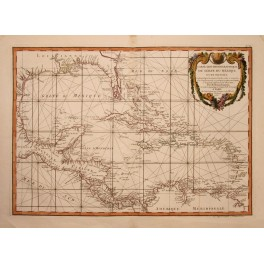Caribbean West Indies America Florida map Zannoni 1782