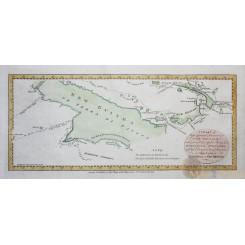 PAPUA-NEW GUINEA antique map Irian Jaya Dampier Cook Carteret voyages Hogg 1784