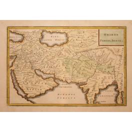 Persia India Iraq Armenia Arabia old map Cellarius 1796