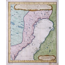 Sweden Finland Gulf of Bothnia old antique map chart by Bellin 1758