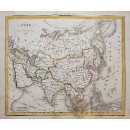 Antique map Asia Japan Korea China India Dufour 1828
