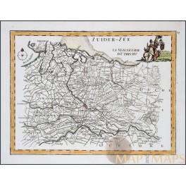 Utrecht Netherlands Holland old map Le Rouge 1748