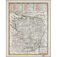 Duchy of Brabant, Old map Carte Ideale du Brabant Le Rouge 1747