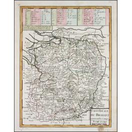BRABANT LIMBURG BELGIUM HOLLAND OLD MAP CARTE IDEALE DU BRABANT LE ROUGE 1748