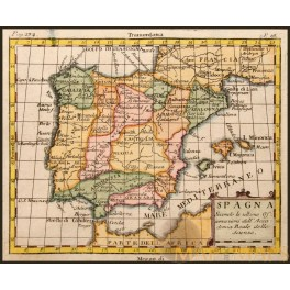 SPAIN PORTUGAL ANTIQUE MAP BY BUFFIER JACQUIER 1791