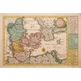 Denmark Copenhagen antique map Schreibern 1796