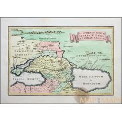 Bosporus Maeotis, Iberia, Albania, Old map Cellarius 1771