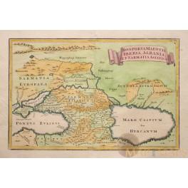 Caspian Sea Black Sea Old map Russia Ukraine Eastern Europe Cellarius 1771