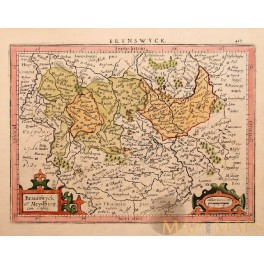 Brunswick, Meydburg Germany, antique map, Mercator 1630