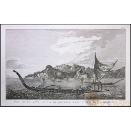 MARQUESAS ISLANDS, FRENCH POLYNESIA, VOYAGE JAMES COOK, OLD ENGRAVING COOK 1778