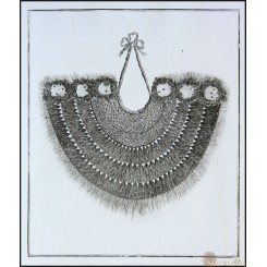 A military gorget worn in the South Sea Islands Old Etching 28 Cook Voyages 1774