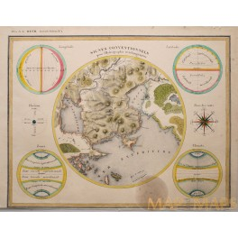 Hydrography and Geology Climate antique map Hydrographie et Géologie Heck 1842