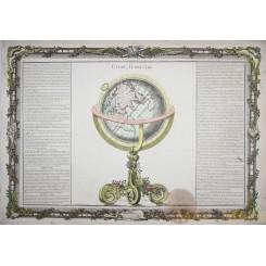 ANTIQUE MAP GLOBE TERRESTRIAL DESNOS GLOBE TERRESTRE PARIS 1761