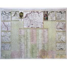 Carte du gouvernement militaire de l'Empire Chatelain 1720.