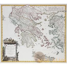 GREECE ISLANDS CRETE TURKEY ANTIQUE MAP GRAECIA VETUS