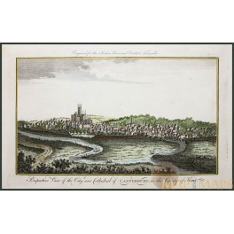 Fine antique print A View of Canterbury Kent by Harrison 1779