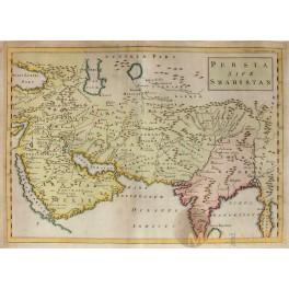 1747 ORIENS, PERSIA, INDIA map Christophorus Cellarius