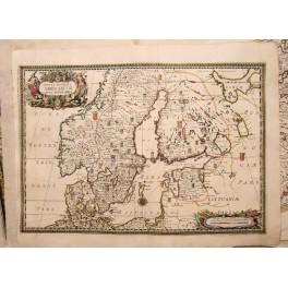 Scandinavia Norway Sweden Finland Baltic sea old map Dahlbergh 1715