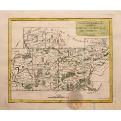 Belgium Hainaut, Mons, Namur, Ath, 1748 map VAUGONDY