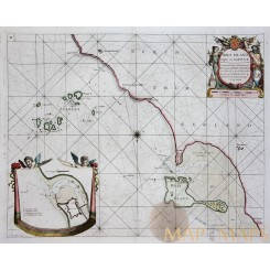Holy Island Staples and Barwick Collins Old map 1760