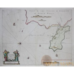 Holy Island Anglesey Wales map Capt. Collins 1760