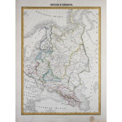 Russia Europe Old map Russie d'Europe by Migeon 1884