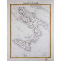 Southern Italy Italie Méridionale Migeon map 1884