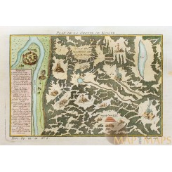 Fortress Kungeron Kungurka Russia Old map Bellin 1748