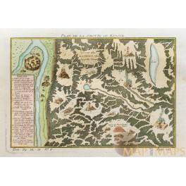 Fortress Kungeron Kungurka RiverPerm Krai Russia Old plan Bellin 1748
