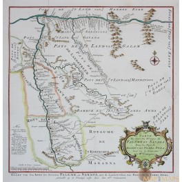 AFRICA MAP, CAMEROON, MALI, GOLD MINING, By BELLIN 1757