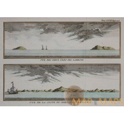 ANTIQUE MAP TINIAN NORTHERN MARIANA ISLANDS BELLIN 1761