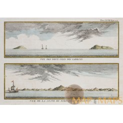 Mariana Islands Voyage Anson Antique Map Bellin 1761