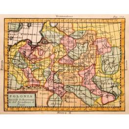 Poland Livonia Moldavia Hungarian old map Vaugondy 1744