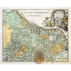 Belgium Holland Luxembourg Hodierna Belgicae Historical maps by Cluverius 1697