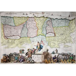 Beloofde Landt Canaan - Holy Land map Stoopendaal 1738