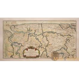 SURINAME-DUTCH COLONIE-DE LA COLONIE DE SURINAM-OLD MAP BELLIN 1764
