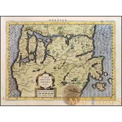 Iutia Septentrionalis. Old map Denmark van den Keere 1648