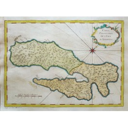 Maluku Island Ambon Indonesia old map Bellin 1750