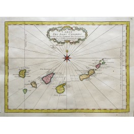 Canary Island Africa Tenerife Clara old map Bellin 1750