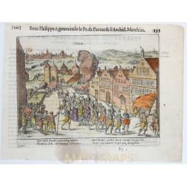 Hattem Holland Netherlands Dutch Protestants war copper Guicciardini 1612