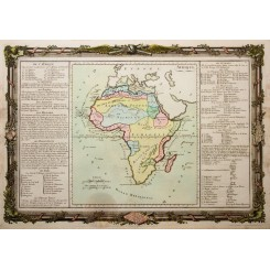 Africa Continent, old map, Afrique by Desnos 1761