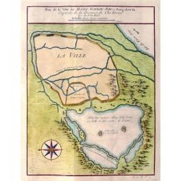 Hangchow China antique plan Prevost 1760
