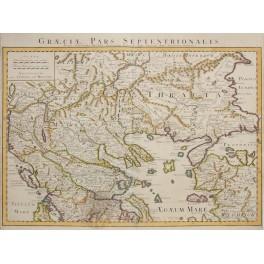 Graeciae pars Septentrionalis North Greece de Lisle 1742