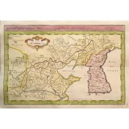 Korea China Great Wall Du Katay old map Bellin 1750
