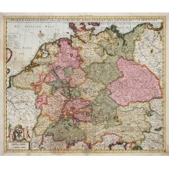 IMPERIUM ROMANO GERMANICUM GERMANY OLD MAP BY PETER SCHENK 1700