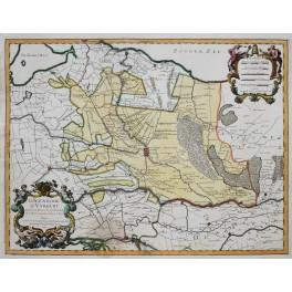 La Seigneurie D' Utrecht Antique map Sanson/Jaillot 1748