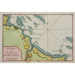 Mexico, New Spain, Town and Port Vera Cruz, Tiron map 1784