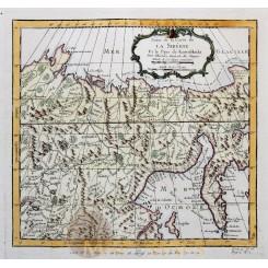 Carte de la Sibérie et la Pays de Kamtschatka Bellin 1747