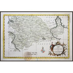 LOWER SAXONY HANOVER GERMANY OLD ATLAS MAP BY ROLLOS MAP 1760