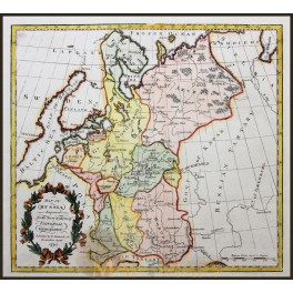 Map of Russia and Estonia Antique Map by Morison 1795